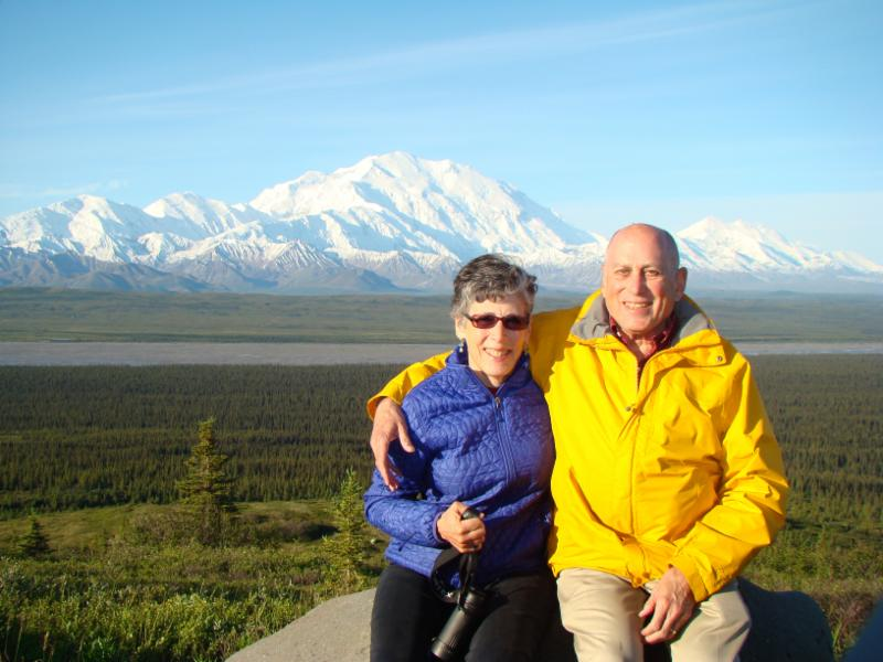 Professor Emeritus Elliot Weiss and, his wife, Wendy at Mt. McKinley.