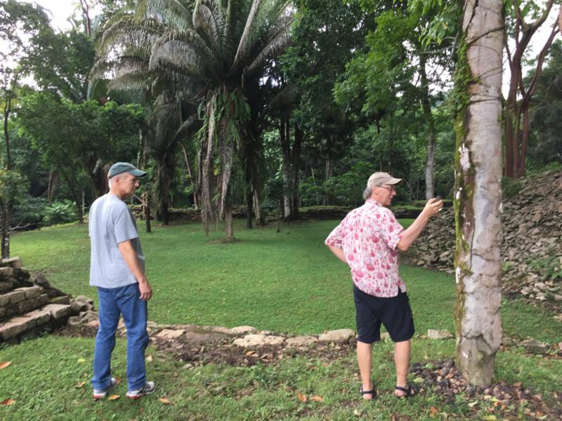Professor Rob Williams (right) and UA Udall Center Director Stephen Cornell (left) in  Punta Gorda, Belize for the Maya Leaders Workshop on Governance Capacity Building.